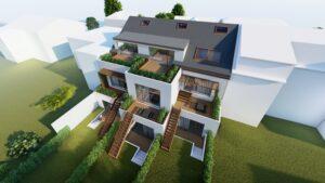 Vizualizace projektu rodinné bydlení Čimice