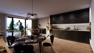 3D interiér bydlení Čimice
