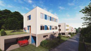 Vizualizace projektu rodinné bydlení Solnice